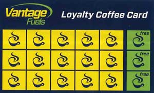 Vantage Fuels Loyalty Coffee Card